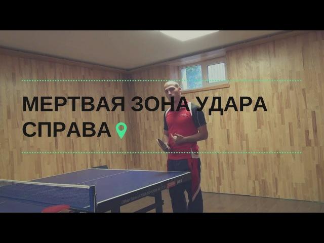Удар СПРАВА в настольном теннисе из МЕРТВОЙ ЗОНЫ