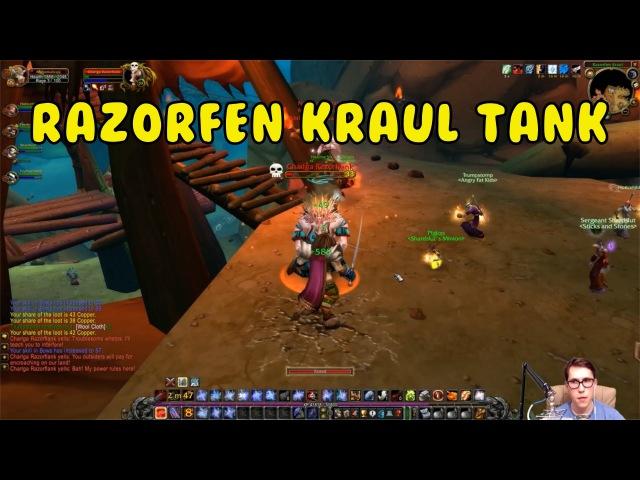 Прокачка в World of Warcraft Ванилла Танкую в Razorfen Kraul 31 Level часть 43