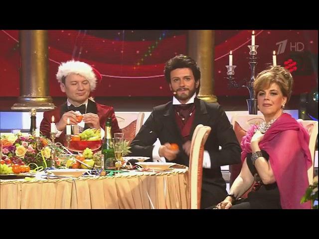 Г.Матвейчук в образе П.Доминго. Финал шоу Точь-в-точь. Суперсезон
