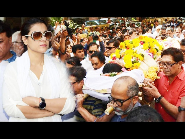 Kajol At Reema Lagoo Funeral FULL VIDEO