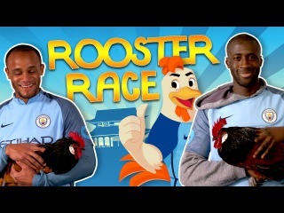 MAN CITY PLAYERS GO ROOSTER RACING | Chinese New Year 2017