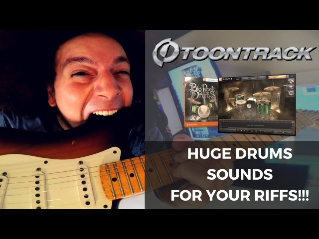 MASSIVE Drum Sounds For Your Riffs - ToonTrack Big Rock Drums EZX Library