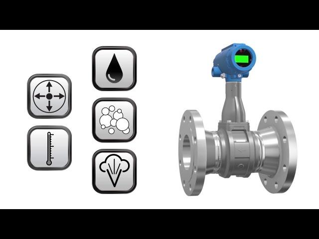 Принцип работы вихревых расходомеров Rosemount