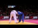 Judo Grand Slam Paris 2012: final -100kg BORODAVKO, Jevgenijs (LAT) - NAIDAN, Tuvshinbayar (MGL)