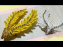 67) DIY - Tutorial    Cara Membuat Bros Daun Victory    How to Make Victory Leaf    Kanzashi