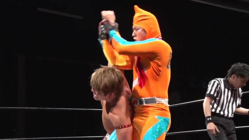 Best Stretchman V3 Tsutomu Oosugi vs Hiroshi Kondo Kazuhiro Tamura DDT Tavern Pro Wrestling ~ Alcohol Mania 2017 ~