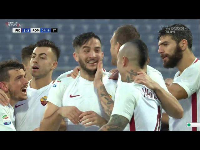 Fiorentina Roma 2 4 Ampia Sintesi SKY All Goals Highlights Serie A 2017 HD
