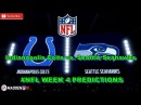 Indianapolis Colts vs. Seattle Seahawks NFL WEEK 4 Predictions Madden 18