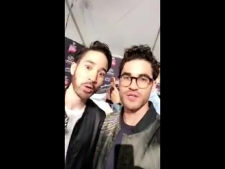 @DarrenCriss  @Chuck_Criss at the #iHeartAwards via @awesomenesstv snapchat