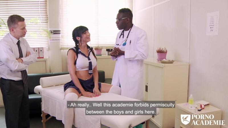 Hot school girl Valentina Ricci enjoys hot MMF threesome in doctors