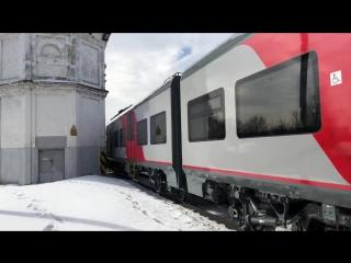 Сцепка ТЭП70БС-177 ЭС2ГП-002 «Ласточка» отправляется из Шуи в Иваново