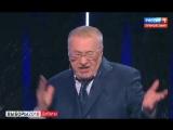 Жириновский называет Собчак блядью, проституткой, просит её заткнуться и выйти,  а она его обливает водой.