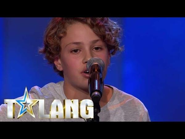 Noak Hellsing charmar hela juryn i Talang 2017 med sin Ed Sheeran cover Talang TV4
