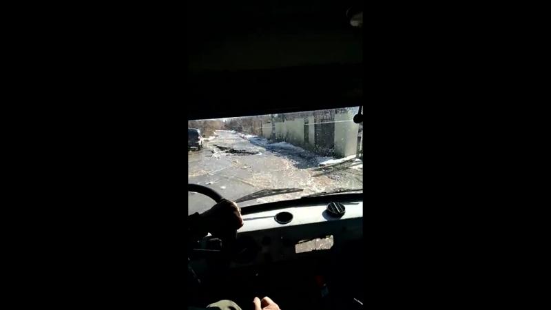 Паводок в Саратовской области дорога на Трещиху