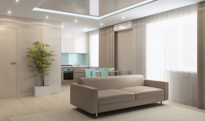 Дизайн - проект квартиры - студии, 32 кв.