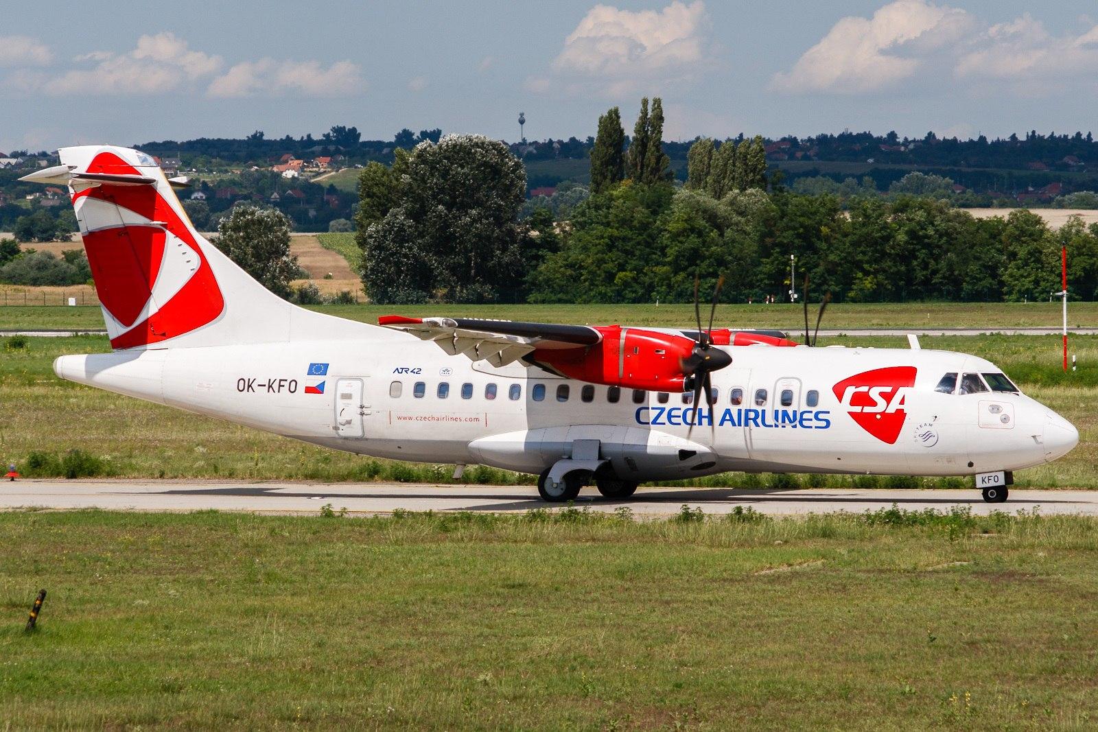 Самолет готовится к взлету