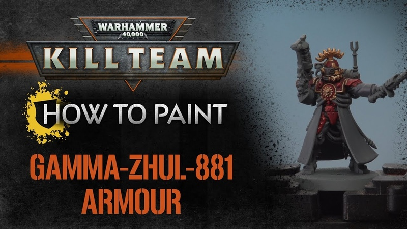 How to paint Kill Team - Gamma-Zhul-881 Armour
