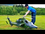 EC-665 EUROCOPTER TIGER GIANT RC SCALE MODEL TURBINE HELICOPTER FLIGHT DEMONSTRATION
