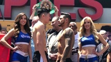 Leo Santa Cruz vs Abner Mares 2 FACE OFF at Weigh In