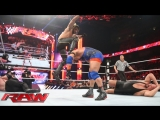 Randy Orton, Ryback and Roman Reigns vs Seth Rollins, Big Show and Kane (WWE RAW 30.03.2015). Part 2