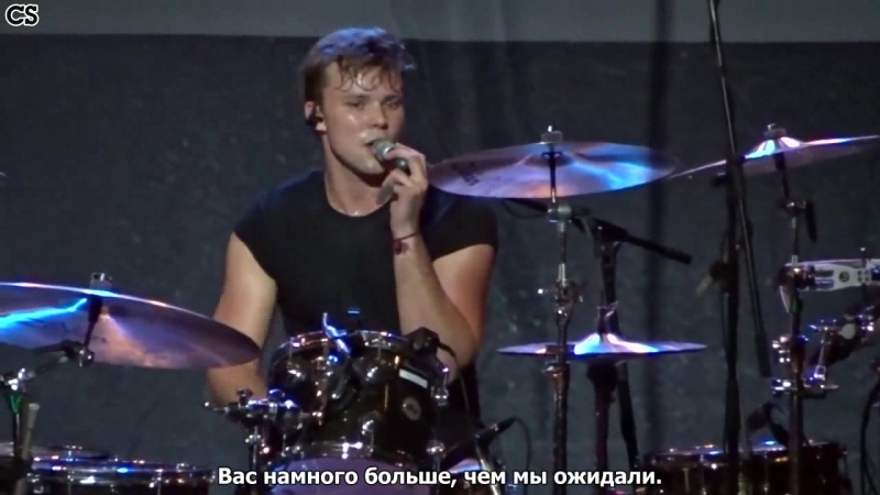 Ashton Irwin talking with fans [RusSub]