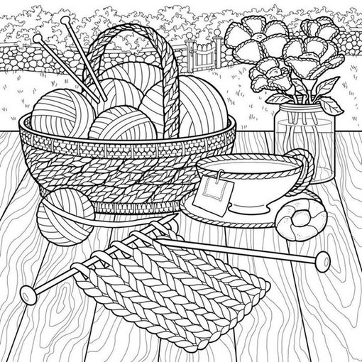 yarn coloring pages - 736×736