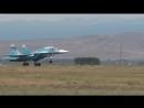 Бомбардировщик Су-34 успешно потопил корабль-мишень ракетой Х-31А.