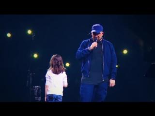 Баста с дочерью в олимпийском - сансара