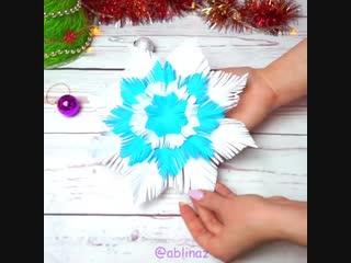Пушистая снежинка своими руками