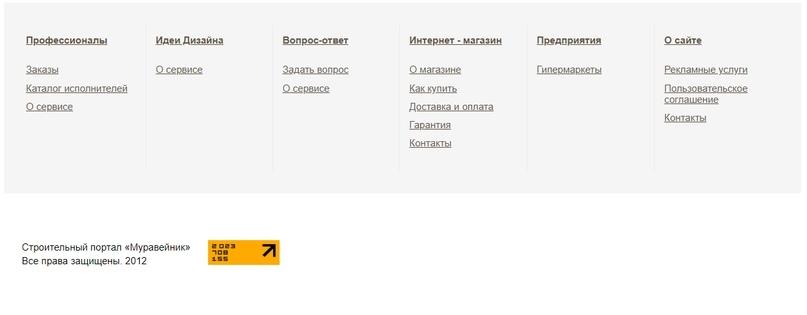 Все четко, по существу: соглашение, о сайте, все контакты и т. п.