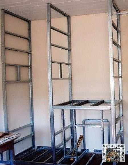 Изготовление шкафа из гипсокартона своими руками