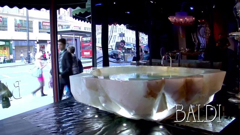 Baldi Home Jewels- the Rock Crystal bathtub in Harrods window