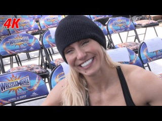 #My1 Charlotte Flair sits in the seat she watched her dad retire: WrestleMania 4K Exclusive, Apr. 2, 2017
