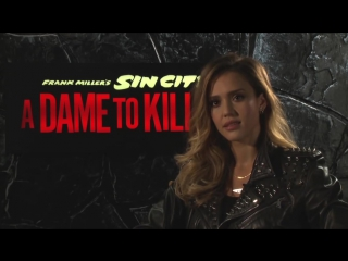 Jessica Alba Interview - Sin City- A Dame to Kill For (2014) Frank Miller Movie HD