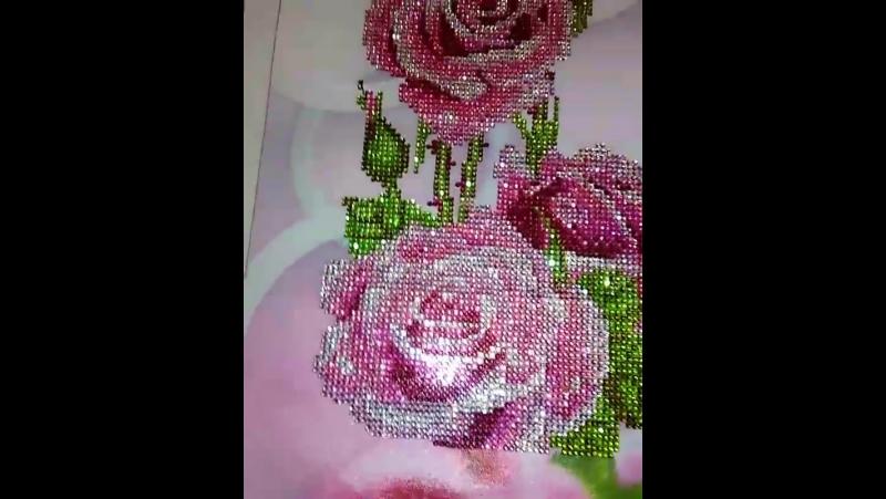 Розы алмазная вышивка