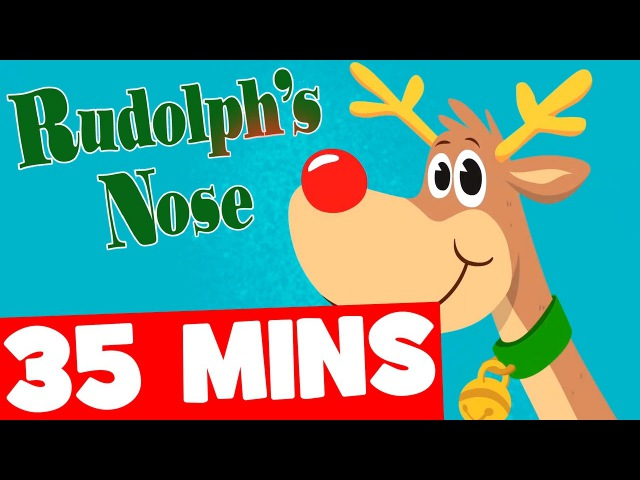 Rudolph's Nose and More | 35mins Christmas Songs Collection for Kids