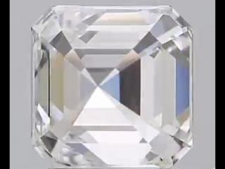 Бриллиант огранки Ашер (Asscher)  карат хар-ки EVVS1 ExEx N. Размеры  mm