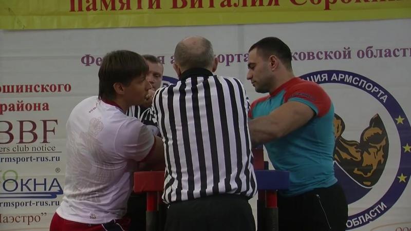 Абсолютная весовая категория на правой руке открытый Кубок г п Лотошино 2017г.