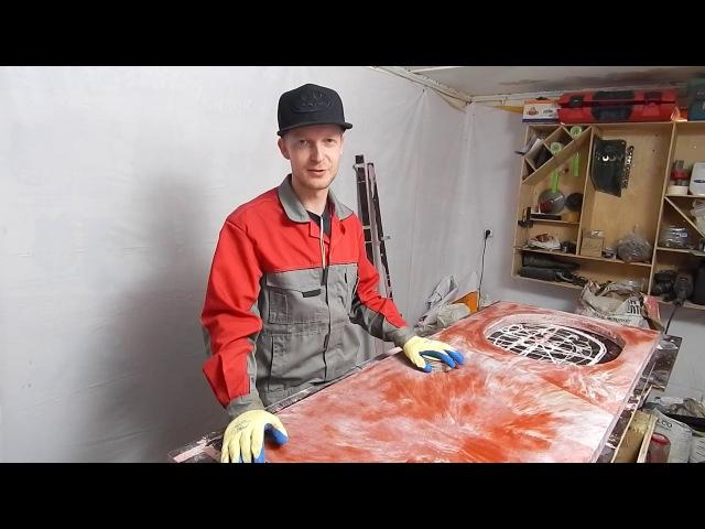 Как сделать кухонную столешницу из бетона Часть 2 Concrete countertop diy