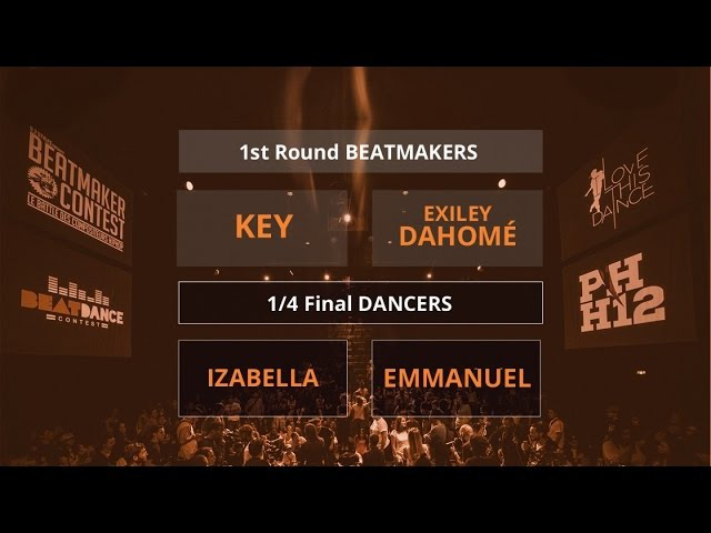 Beatdance Contest 2017 - 14 final Battle - (Izabella vs Emmanuel - Key vs Exiley Dahomé)