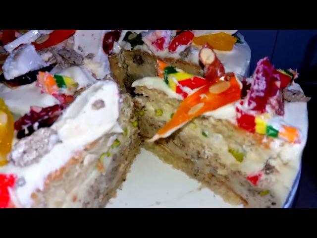 Как сделать торт-парфе (РЕЦЕПТ) Восточный торт ч2. Халва, фисташки, рахат-лукум Cake with nuts