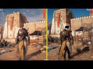 Assassin's Creed Origins - Сравнение графики демо E3 и финальной версии на PS4 PRO