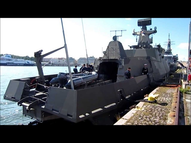 FNS Pori (83) Finnish Navy Hamina class missile boat - Helsinki South Harbor - Finland