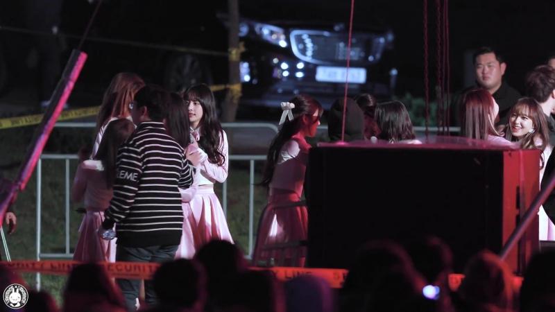 4K 171013 우주소녀 직캠 대기중은 추워를 이기는 댄스 WJSN Fancam @경기도 힐링 뮤직 페스티벌 여주 금은모래캠핑장 By 벤뎅이