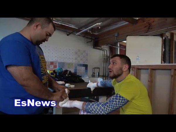 Vasyl Lomachenko Asked About Sparring Ryan Garcia EsNews Boxing