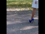 # 03 Legs in Nylon pantyhose in the street, Ноги в колготках из нейлона на улице