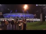 Футбольные фанаты идут на матч Россия-Испания. Прямая трансляция