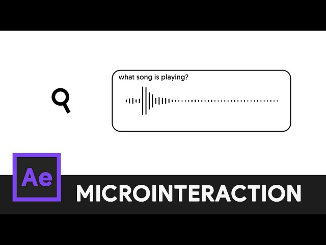 Music Search Icon Animation - After Effects Microinteraction 07