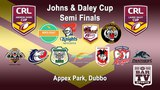2018 CRL - Andrew Johns and Laurie Daley Cups - Semi Finals