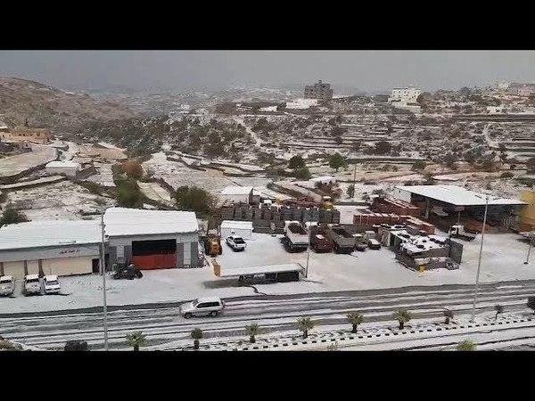 Градовый шторм в городе Абха (Саудовская Аравия, 02.04.2018).